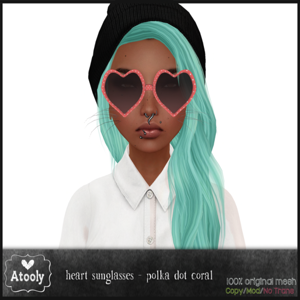 Heart Sunglasses Polka Dot - Atooly